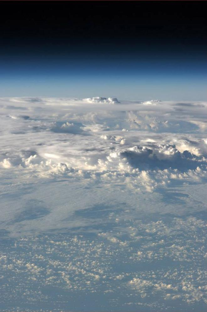 Over the Southern Pacific.  (Photo & Caption: Karen Nyberg, NASA)