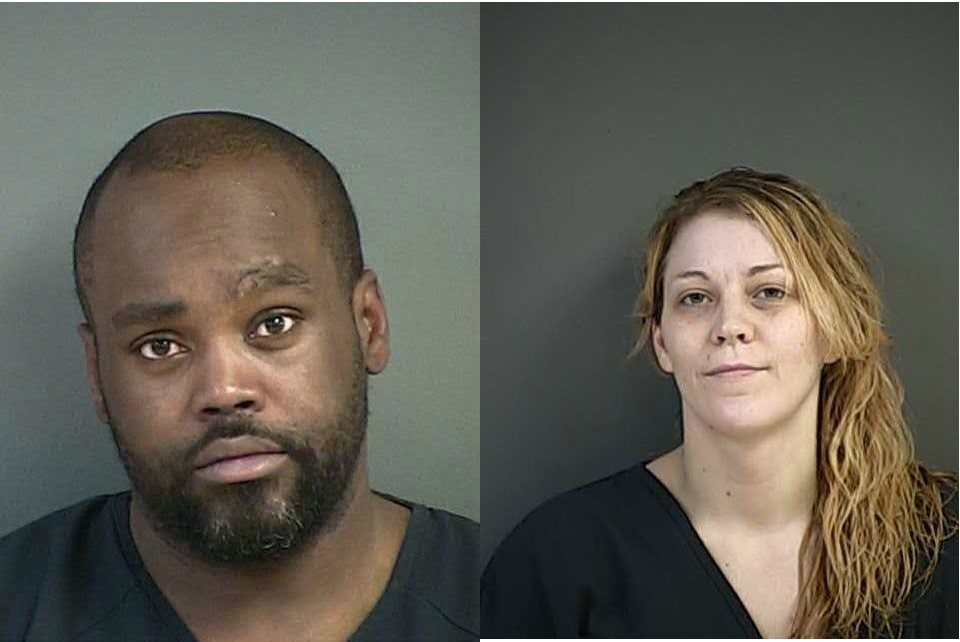 Jason Rynel Trotter and Cirith Bronwen Ellenwood{&amp;nbsp;} (Douglas County Sheriff's Office booking photos)<p></p>