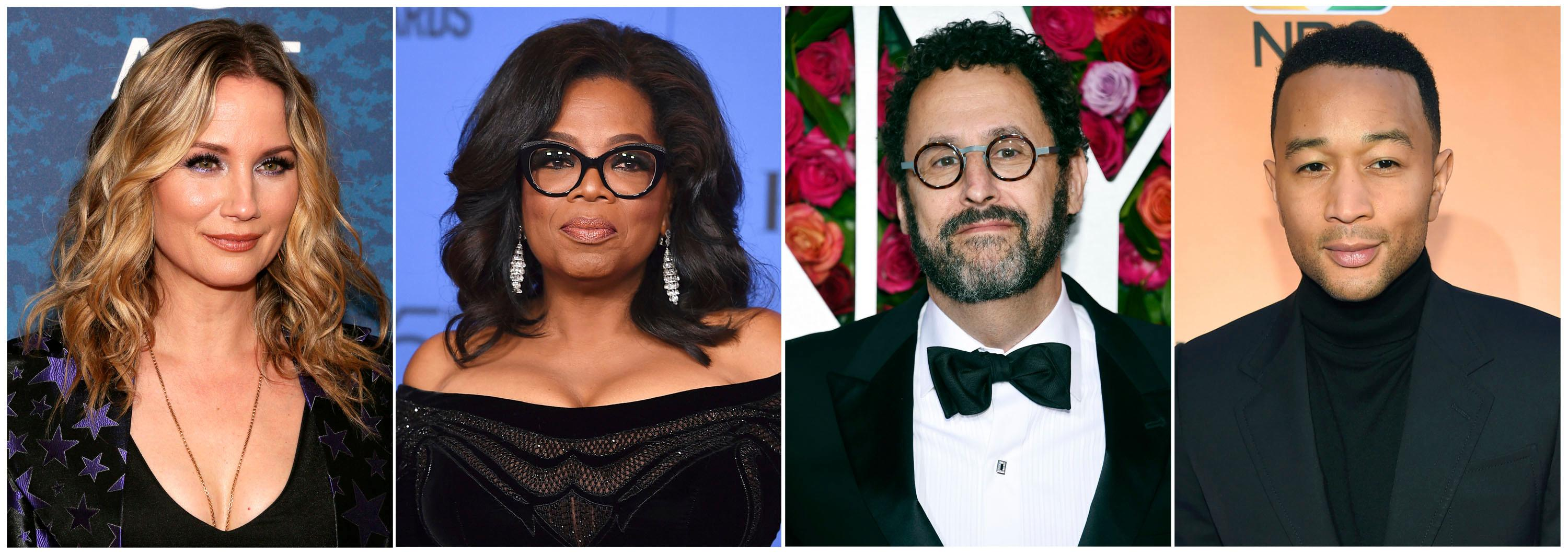 This combination photo shows, from left, country singer Jennifer Nettles, media mogul Oprah Winfrey, playwright and singer John Legend, who are among some of the celebrities speaking out about the U.S. administration's policy of separating families at border crossings. (AP Photo)