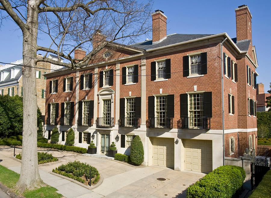 This seven-bedroom, eight-bathroom (six full, two half) Georgian house was built in 1930 in Observatory Circle and sold for$10,400,000. Listing price was $14,700,000, but interestingly enough the house closed on the same day it went on the market: September 8, 2016.  Washington Fine Properties represented the seller. (Image: Courtesy HomeVisit)