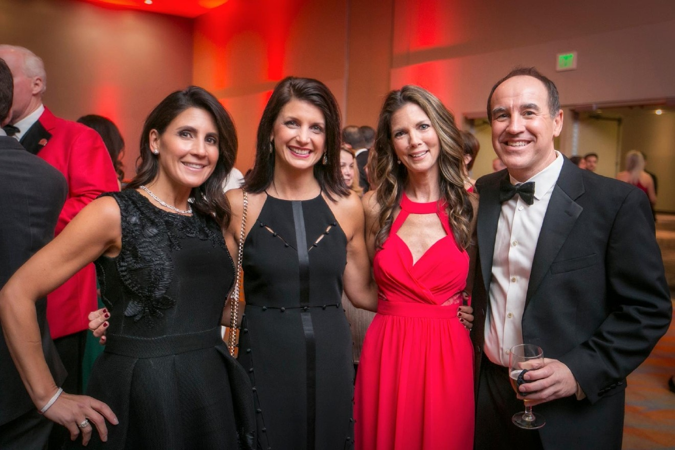 People: Connie Thomas, Francine Gunning, Michele Jons, and Tom Kinard / Event: Heart Ball (2.25.17) / Image: Mike Bresnen Photography / Published: 3.2.17