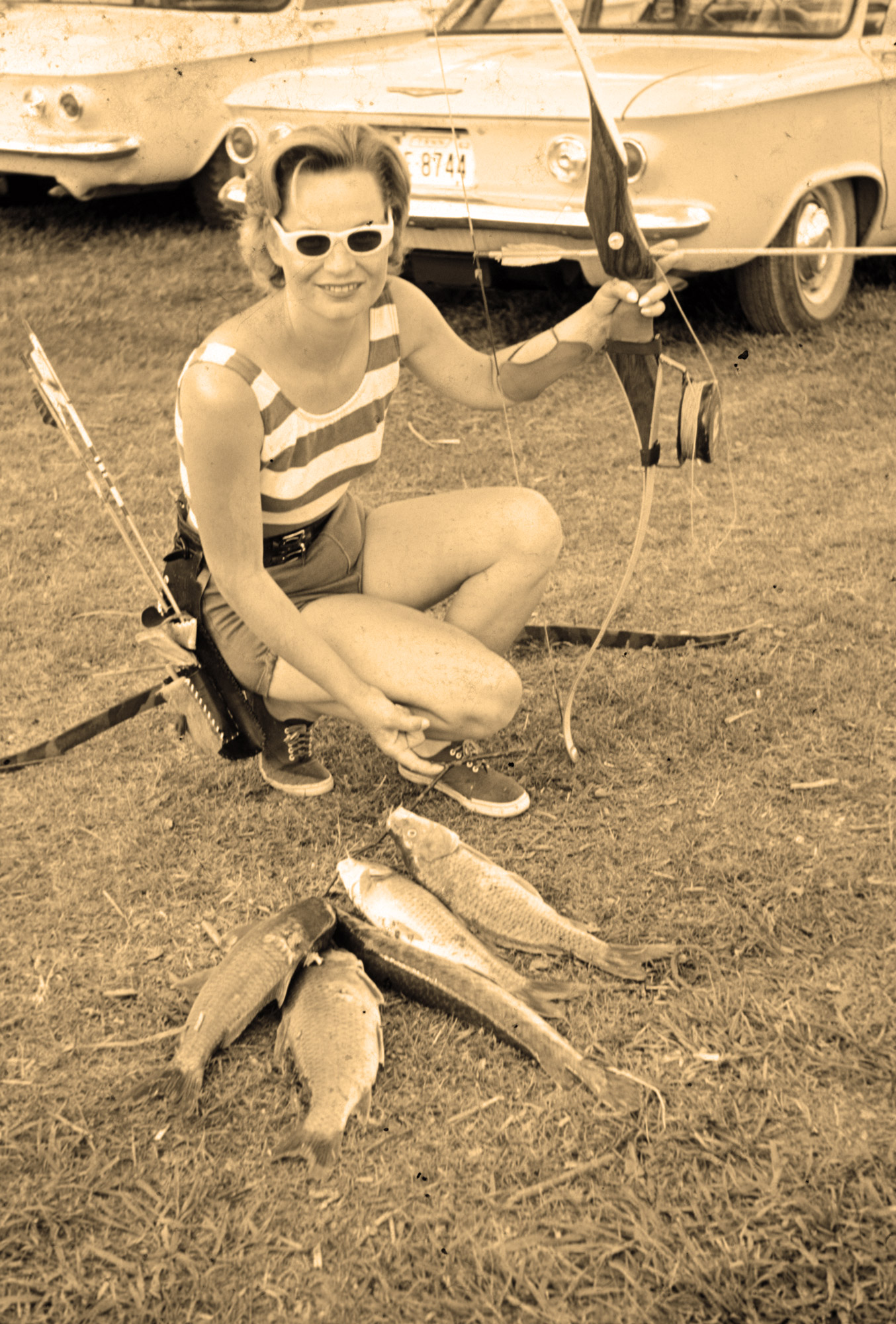 "<p>Robert and Marion Simms were avid archers. Besides deer hunting they loved to bowfish on Chickamauga Lake every Spring. Robert Simms was one of several area bowhunters who lobbied the wildlife agency for a special deer hunting season exclusively for bowhunters, agreeing to buy an extra special license (for $1, at the time). (Photo: Robert ""Bob"" Simms)</p>"