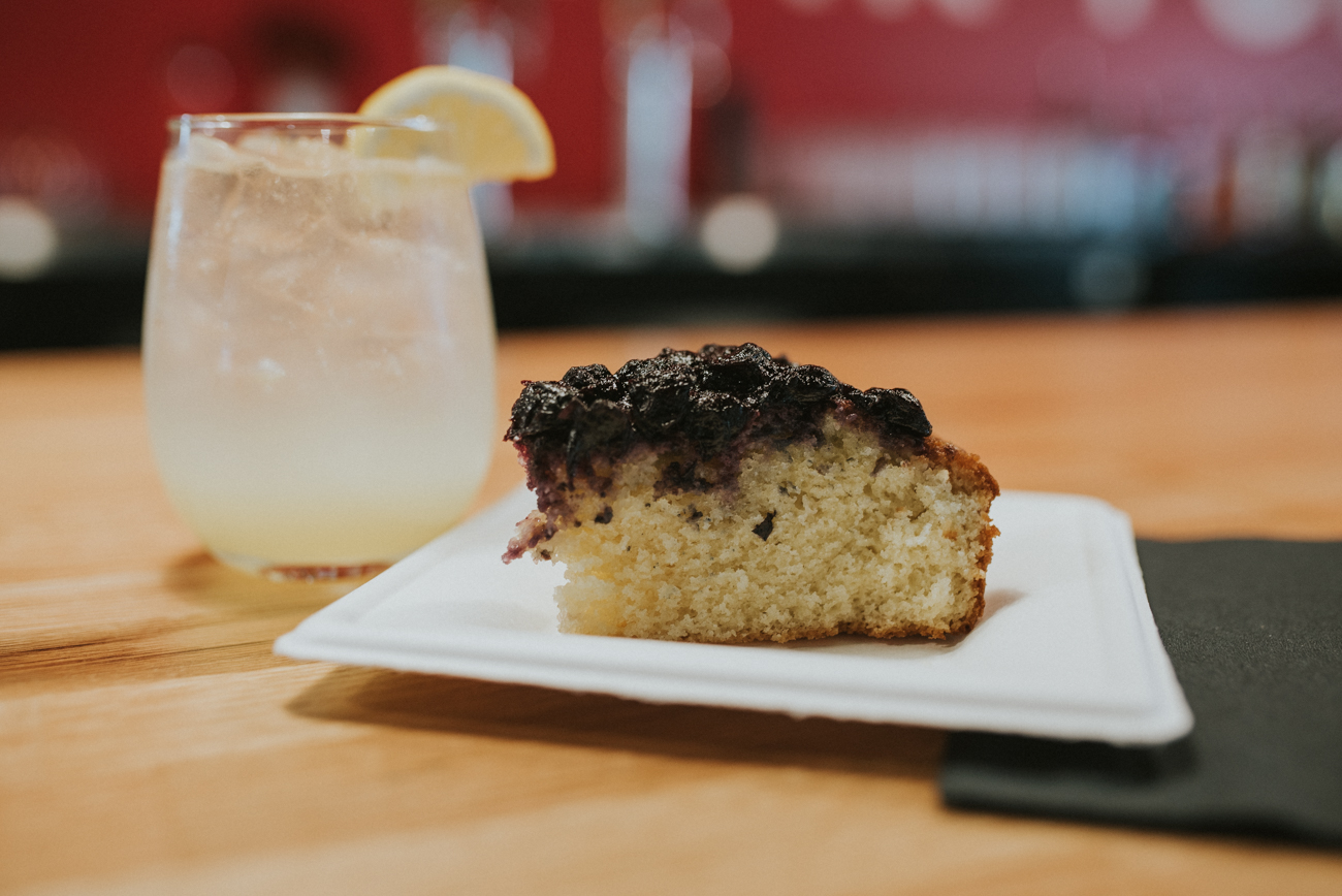 Fresh quark cake with local honey blueberry skillet jam made by Natalie butcher of Hungry Noodle (Lemon Fresher included) / Image: Brianna Long // Published: 4.11.18
