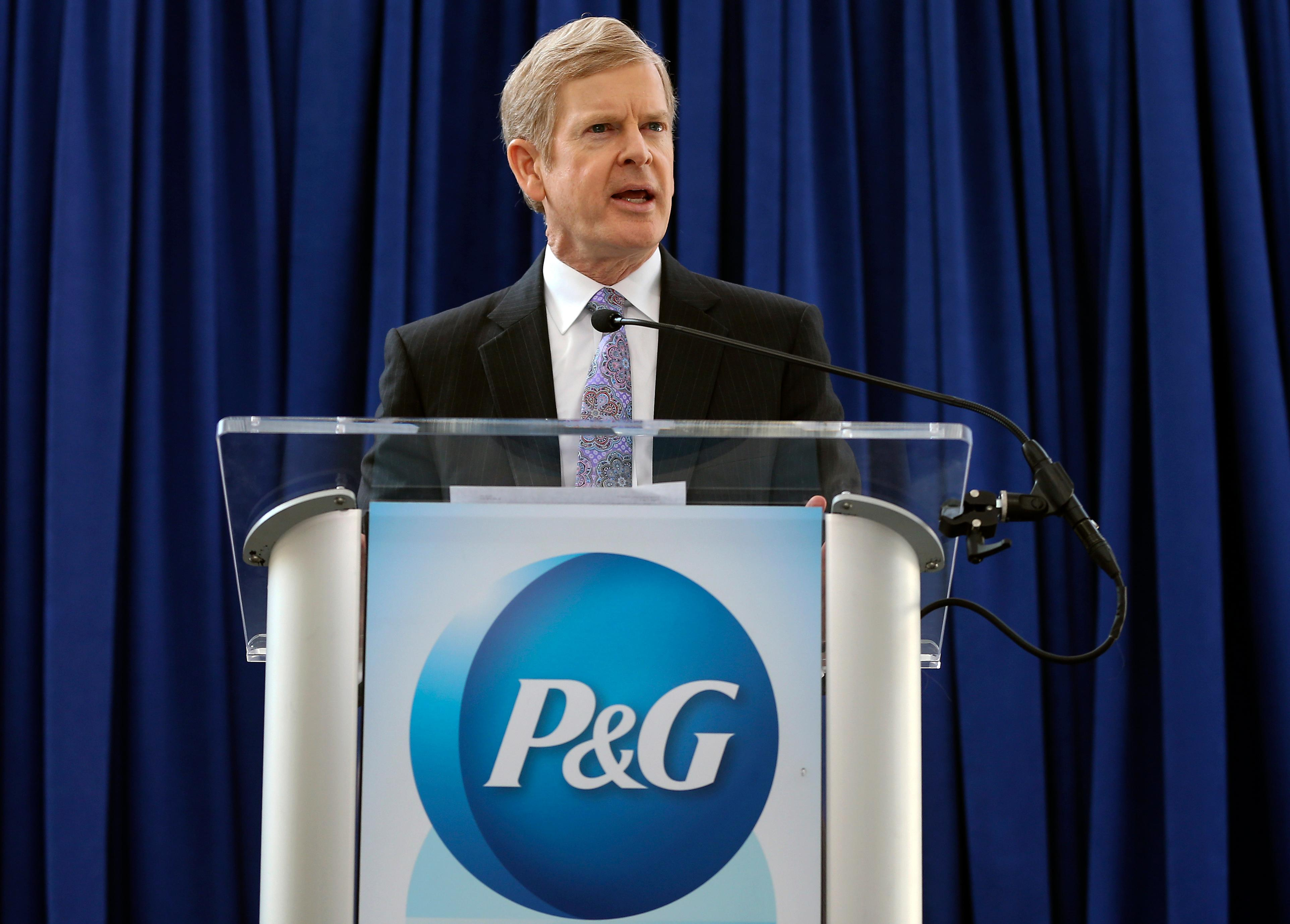 "FILE - In this Tuesday, Oct. 10, 2017, file photo, Procter & Gamble CEO David Taylor answers questions at a news conference following P&G's shareholder vote, in Cincinnati. P&G says it's working to stop the ""Tide Pod challenge,"" a social media-fueled trend in which teenagers eat single-load laundry detergent packets. Taylor called the trend ""dangerous"" and ""extremely concerning"" in a blog post Monday, Jan. 23, 2018. (Kareem Elgazzar/The Cincinnati Enquirer via AP, File)"