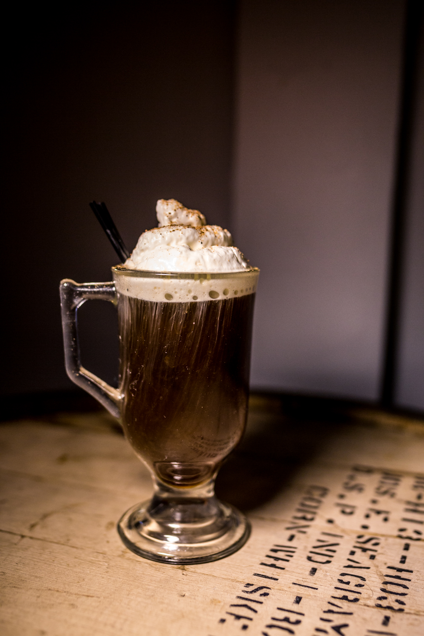 The Kentucky Coffee: house bourbon, coffee liquor, brown sugar reduction, and topped with whipped cream & cinnamon / Image: Catherine Viox // Published: 7.30.19