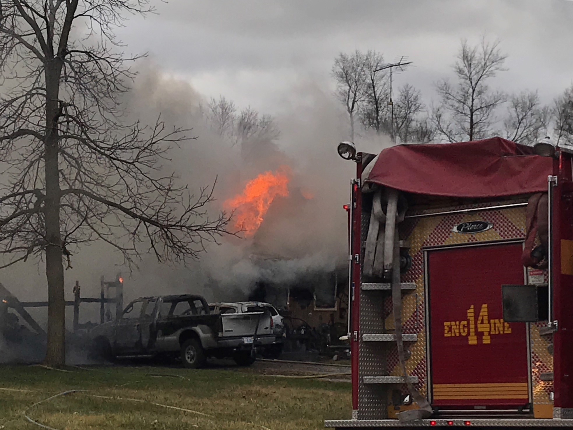 Family members say a man is dead following a house fire. (Photo Credit: Andrew Fergerson)