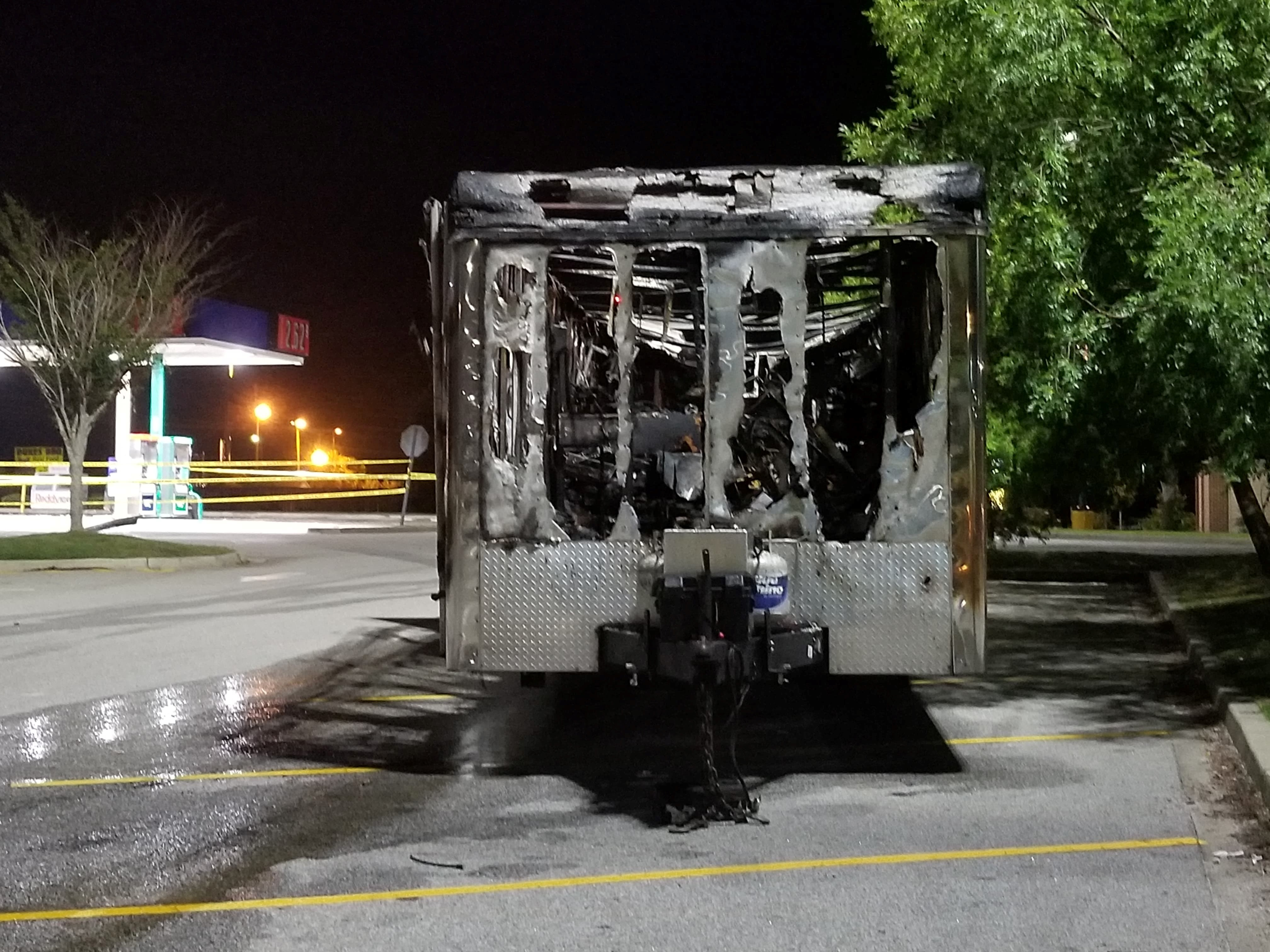Trailer from Walterboro Gas Station Fire