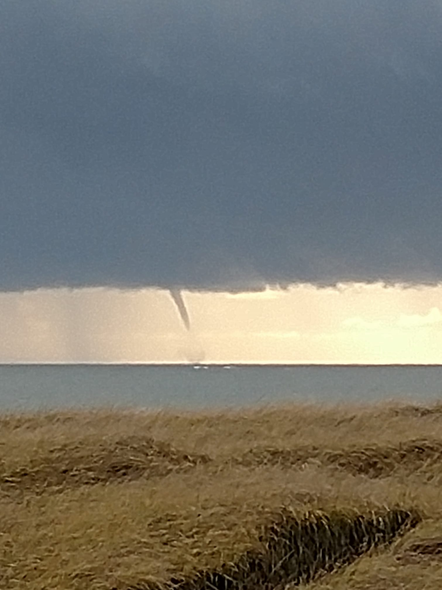 Two waterspouts were spoted off Ocean Shores on Thursday afternoon. (Photo: Debbie Starkey Ferguson)