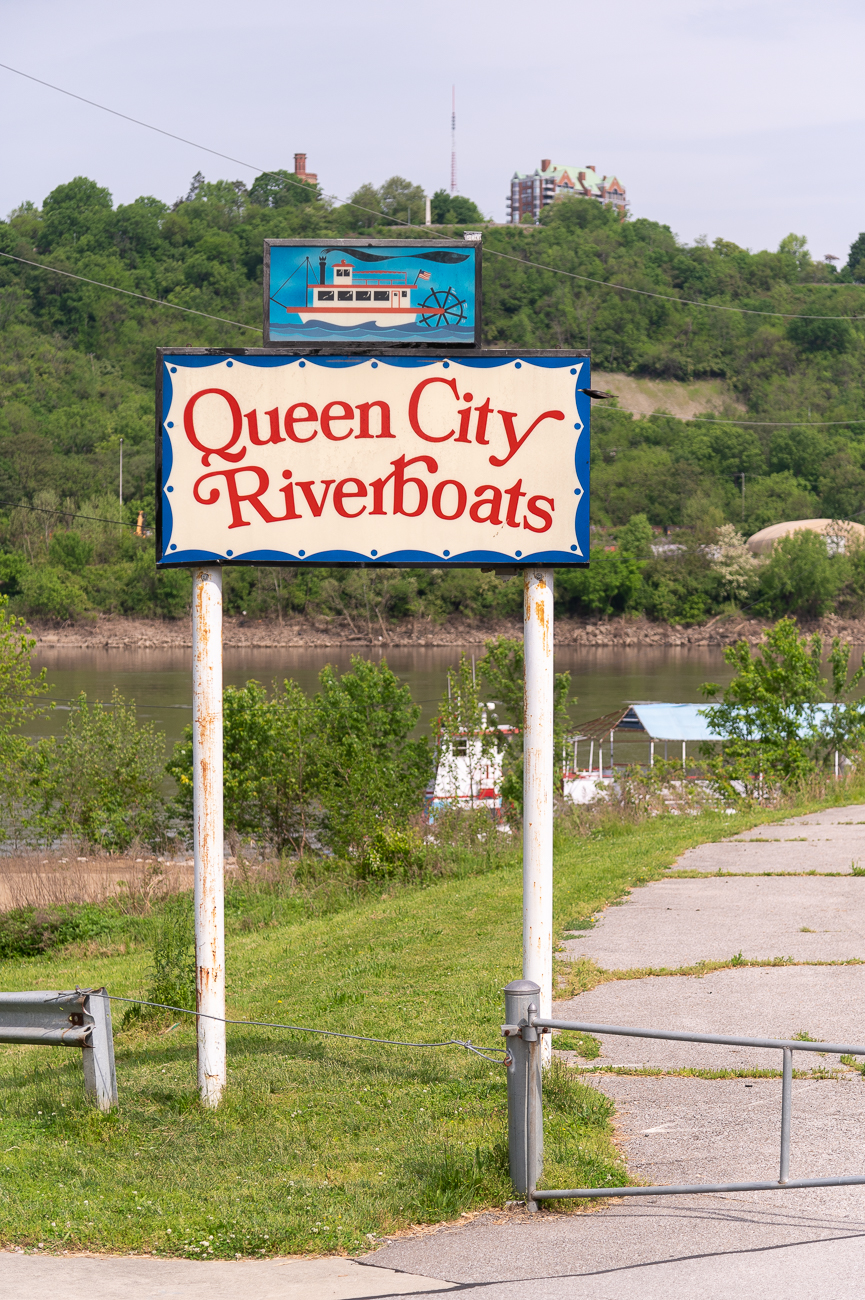 On the western end, Queen City Riverboats has its boats docked. / Image: Phil Armstrong // Published: 9.27.20
