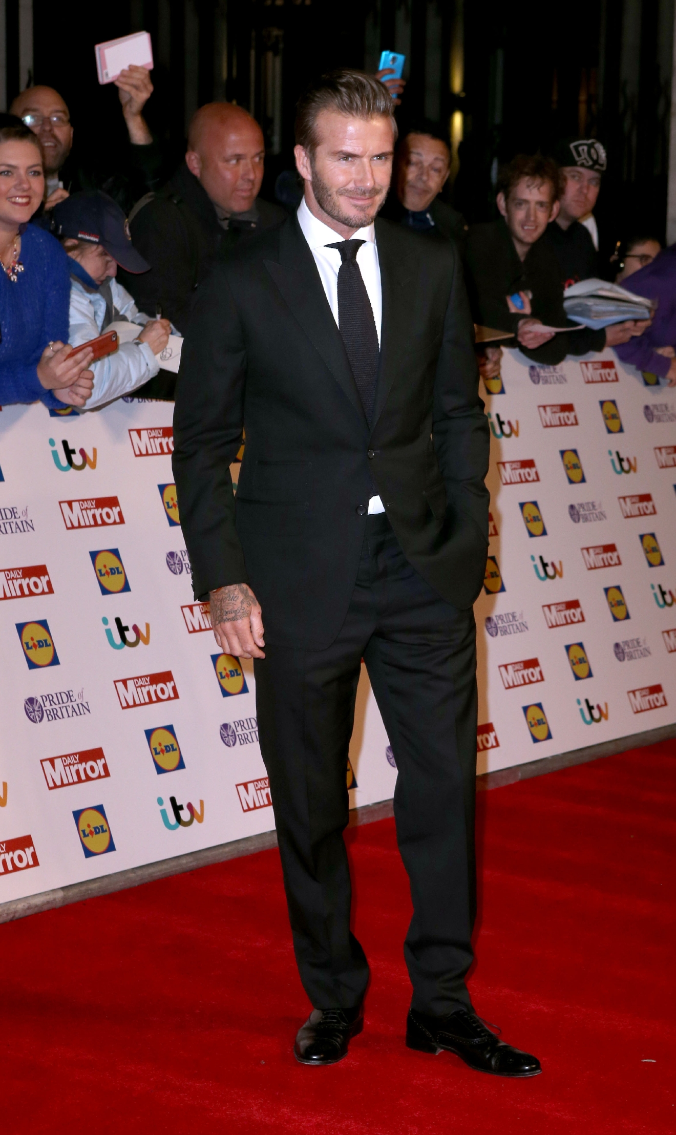 Pride of Britain Awards - arrivals at Grosvenor House  Featuring: David Beckham Where: London, United Kingdom When: 29 Sep 2015 Credit: Lexi Jones/WENN.com