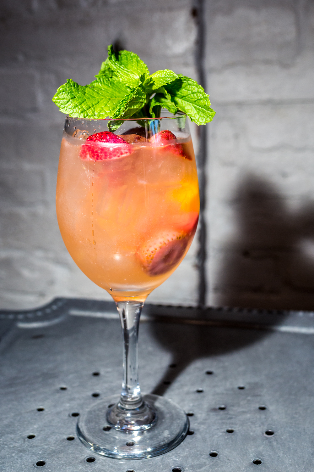 Sangria Blanca: white wine, Cointreau, and seasonal fruit / Image: Catherine Viox{ }// Published: 9.30.19