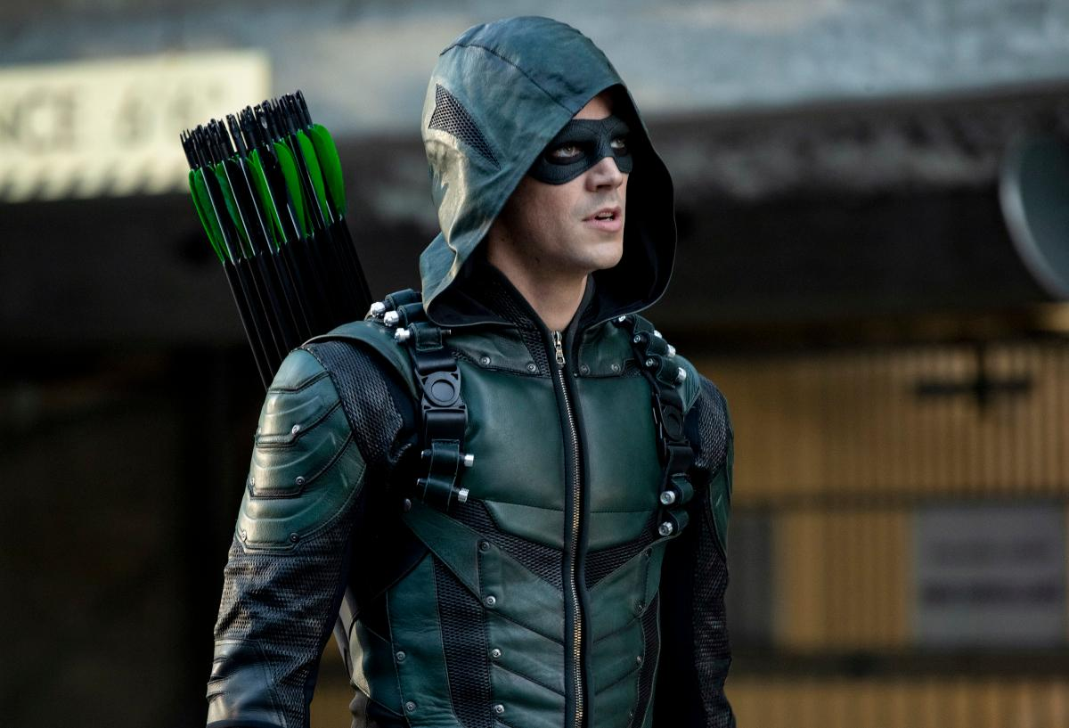 "Arrow -- ""Elseworlds, Part 2"" -- Image Number: AR709b_0635b -- Pictured: Grant Gustin as Oliver Queen/Green Arrow -- Photo: Jack Rowand/The CW -- �© 2018 The CW Network, LLC. All Rights Reserved."