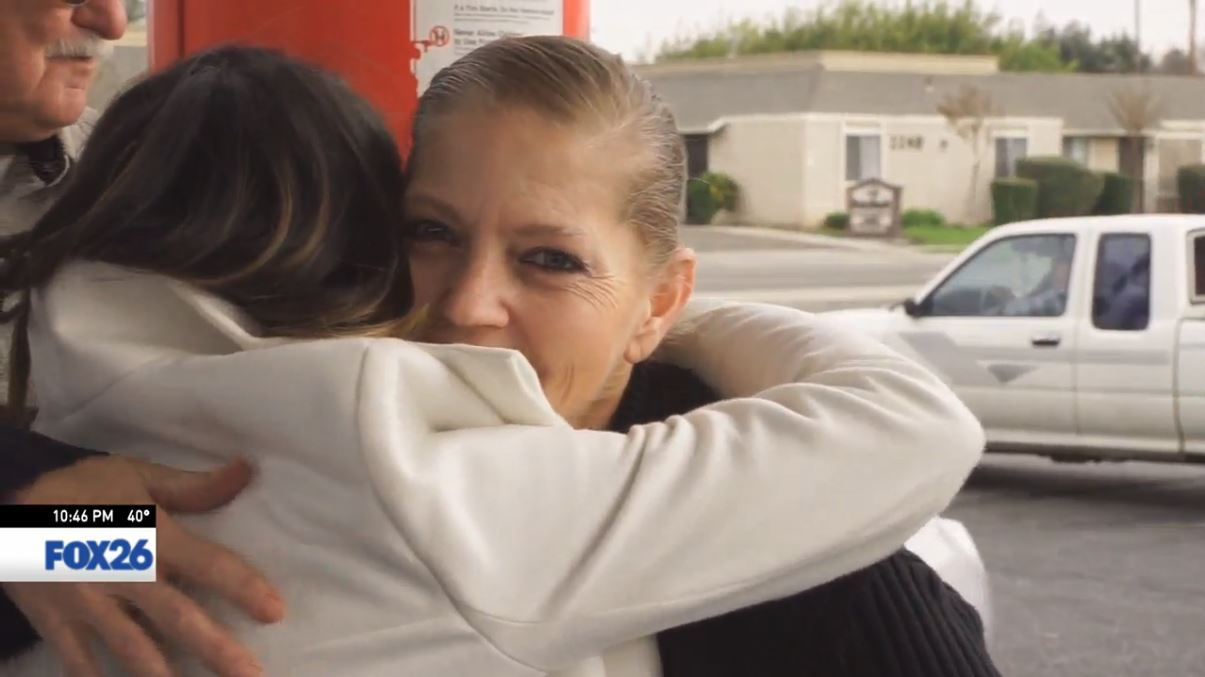 Today's random acts of kindness made Tanya get emotional, and then she got a hug from Sophia