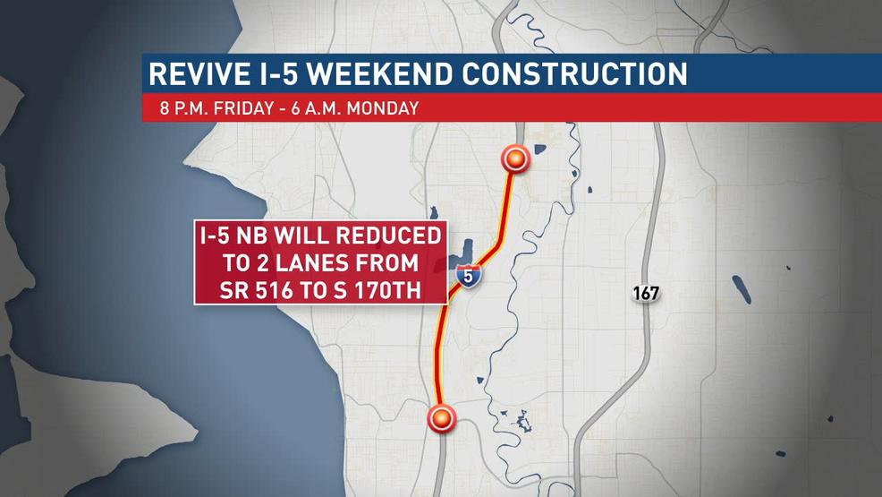 Traffic alert: Work on I-5, S R  509 south of Seattle | KOMO