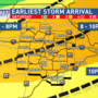 WEATHER ALERT: Severe storms possible Saturday night