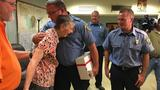 Woman thanks firefighters who saved her from choking