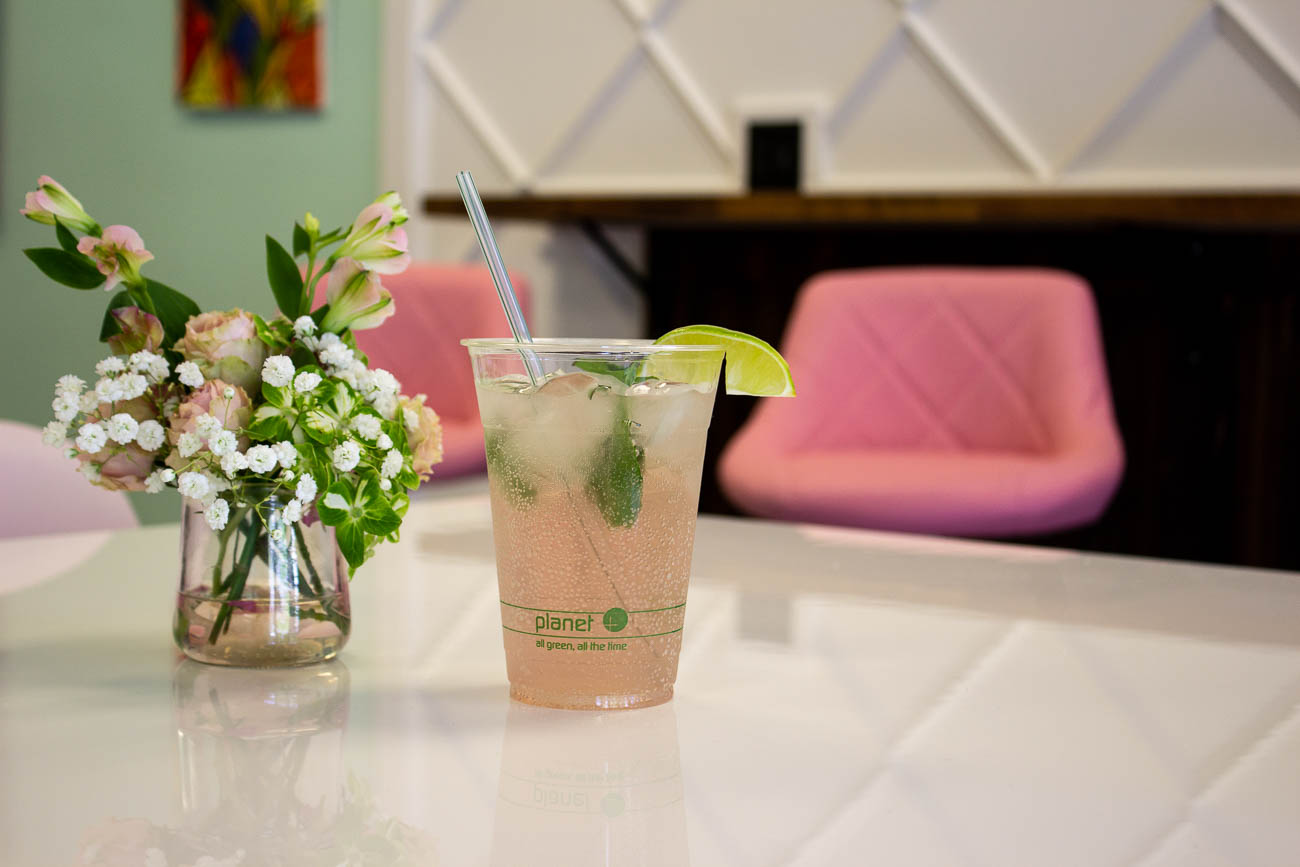 Their refreshing hand-crafted sodas come in mint, raspberry, agave, and lime flavors. / Image: Katie Robinson, Cincinnati Refined // Published: 5.25.19