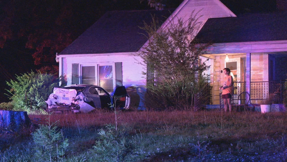 West Asheville man says car that hit house barely missed him