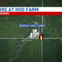 Raymond-Harvel firefighters respond to pig farm fire Friday