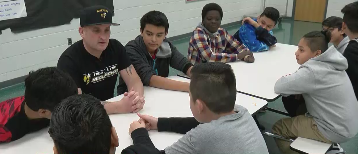 Hamish Brewer, a 41-year-old New Zealand native, is determined to turn things around at Fred M. Lynn Middle School in Woodbridge, Virginia. (ABC7)