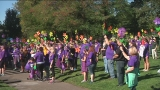 Sea of purple floods Stewart Park for the Walk to End Alzheimer's in Roseburg