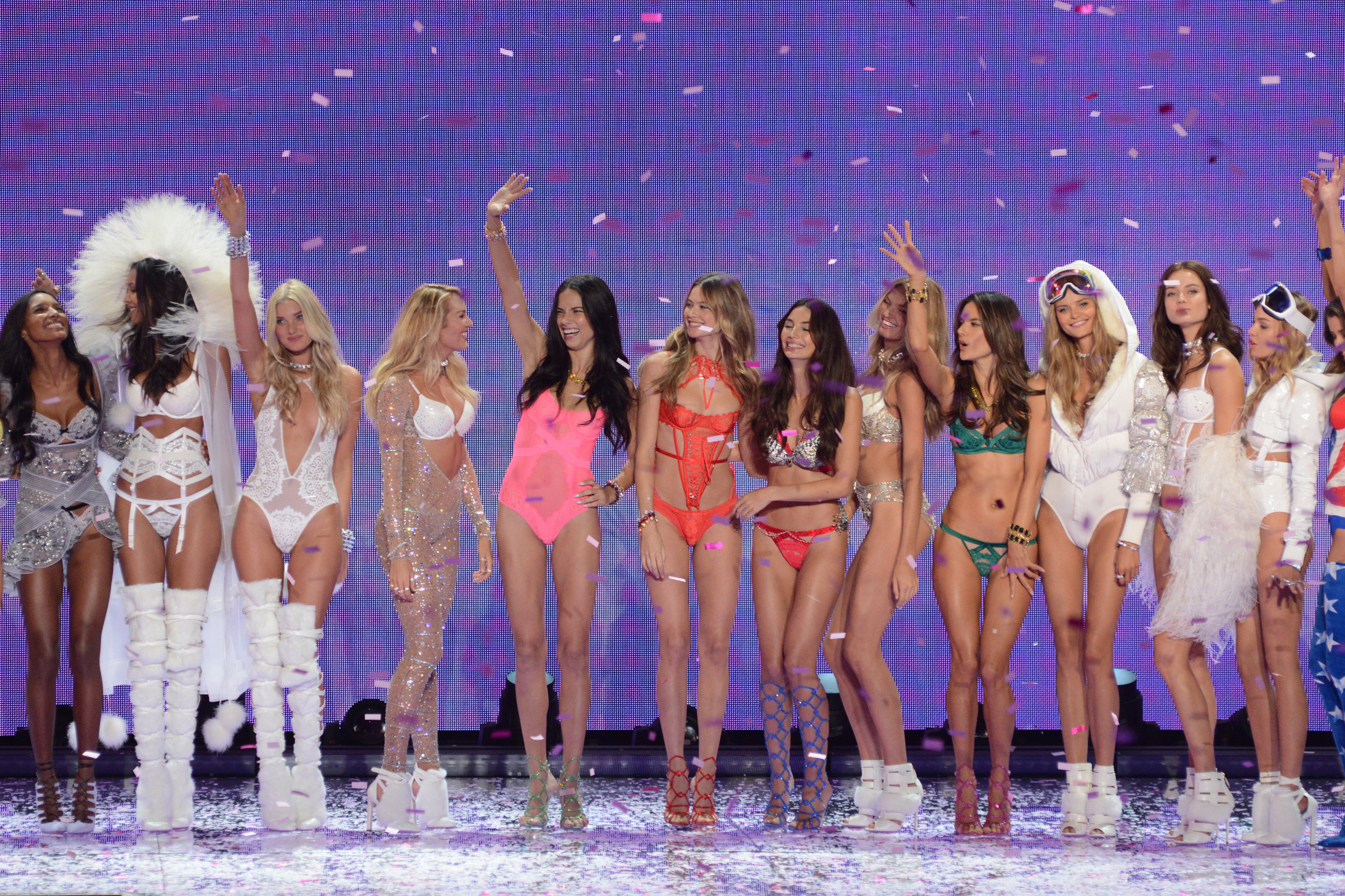 Models at the 2015 Victoria's Secret Fashion Show (Ivan Nikolov/WENN.com)
