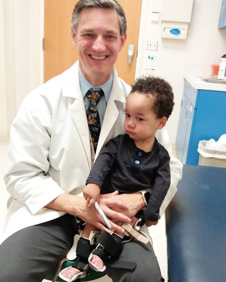 "Norien's doctor is in Philadelphia, and is one of the only doctors would be able to help Norien eventually be able to stand; and expense Tess said her family could no longer afford, but, lucky for them they found out about ""Angel Flight East."" (Photo provided by the Jones family)"