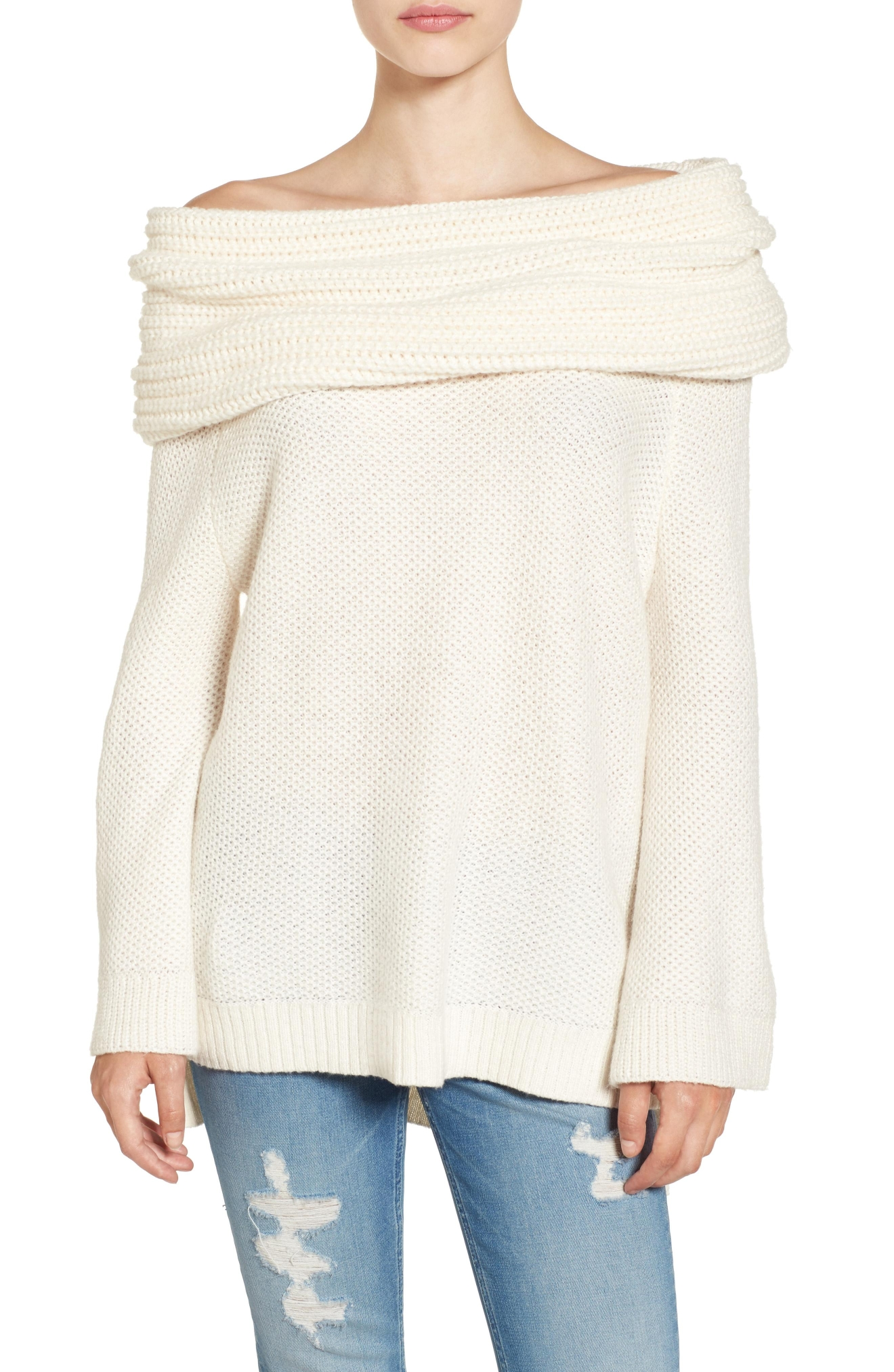 Sun & Shadow Cowl Off the Shoulder Sweater (Nordstrom)