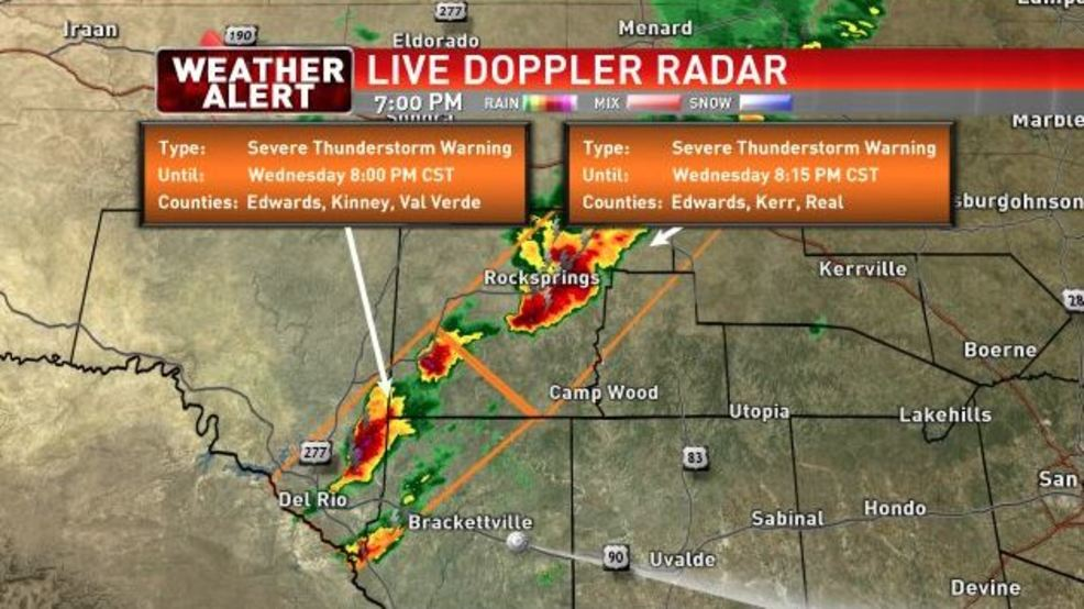 severe thunderstorm warning issued for multiple counties woai
