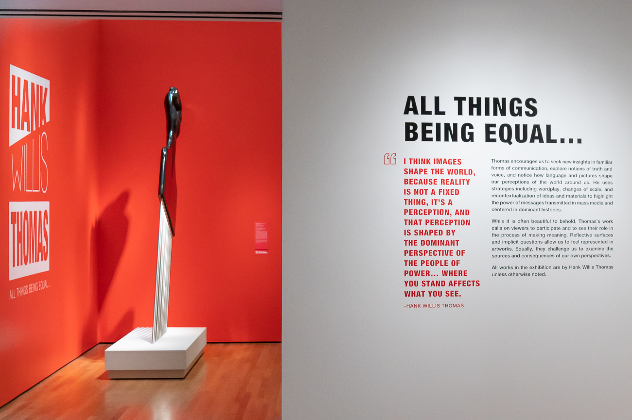 "The exhibit showcases Thomas' diverse collection of art that includes everything from photographs to sculptures. The museum describes his work as ""bold, thoughtful and deeply moving"" and says the exhibit ""asks us to see and challenge systems of inequality that are woven into the fabric of contemporary life, leaving no doubt that art is an essential tool in ongoing struggle for social justice."" / Image: Phil Armstrong, Cincinnati Refined // Published: 9.4.20"