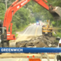 Water main break closes Division Street in East Greenwich