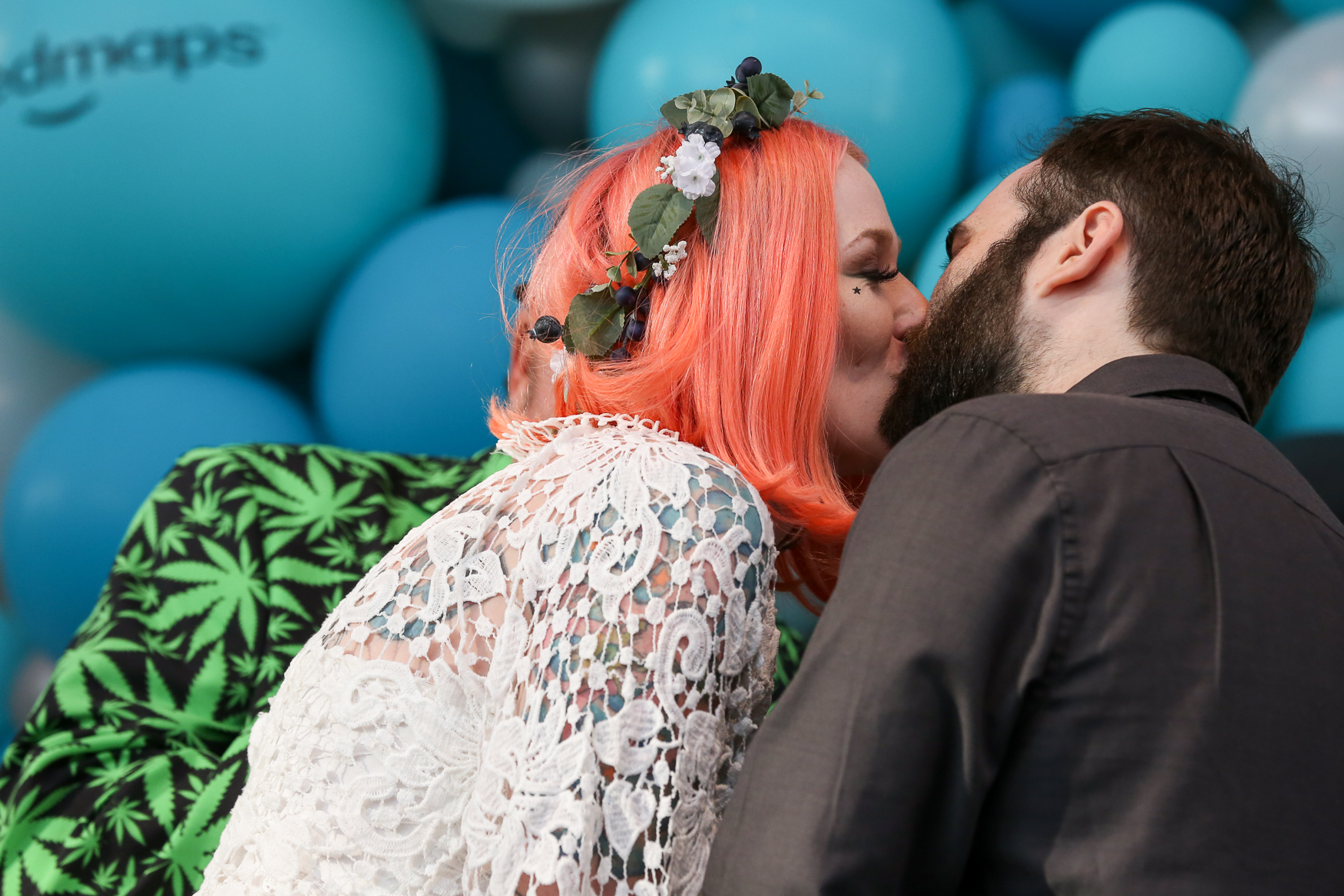The festivities also included the ultimate weed wedding. The lucky couple was selected after a nationwide search and they got married on stage. (Amanda Andrade-Rhoades/DC Refined)