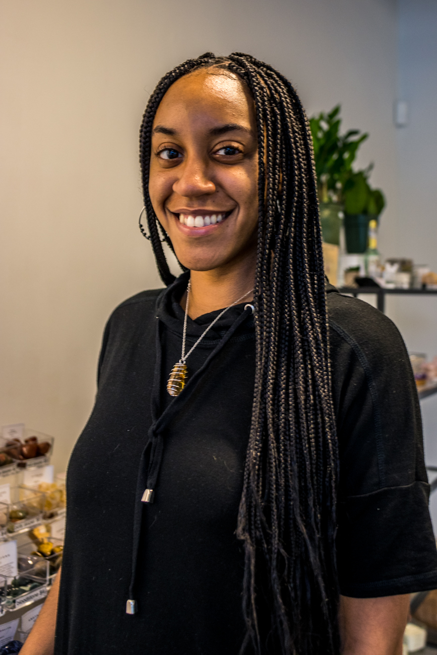 Diamyn Rembert, owner of Diamyn's Crystal Bar / Image: Catherine Viox // Published: 8.4.20