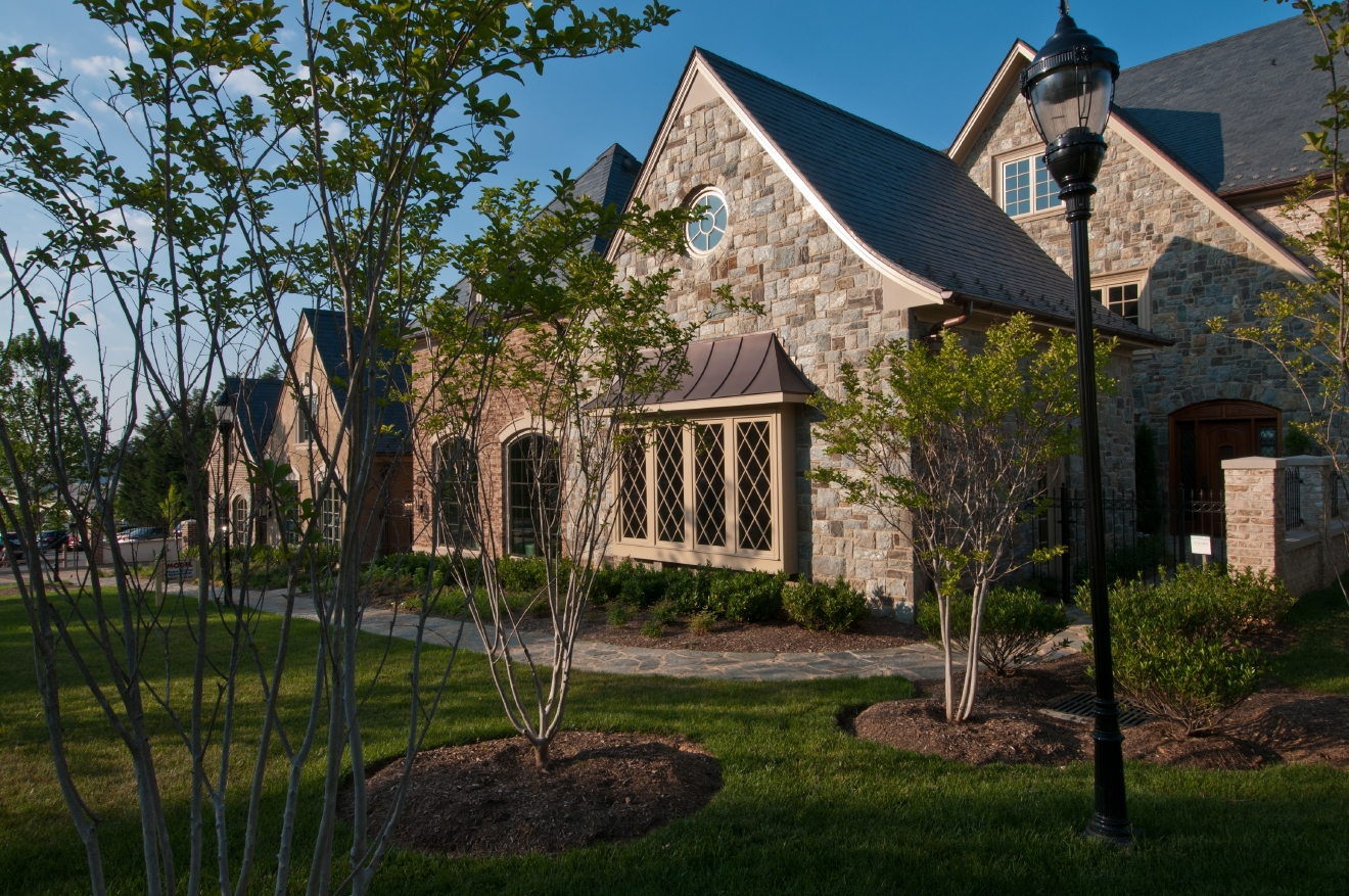 This 4 bed/6 bath, 7,000-square-foot townhome comes with a stunning view of the National Cathedral in your backyard. (Image: Courtesy J.L. Albrittain, Inc. )