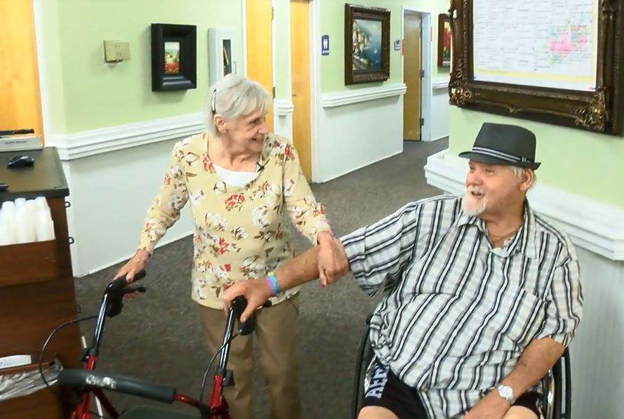 Newly weds, Maureen 77 and Roger 70, met in a Conway nursing home. (Matt Barbour/WPDE)