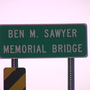 Ben Sawyer Bridge down to one lane because of wreck