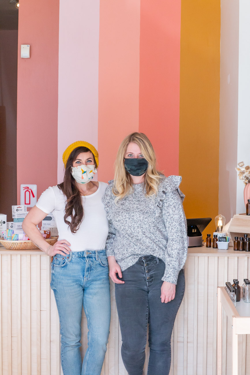 <p>Co-owners Adria Hall and Jamie Fairman / Image: Elizabeth A. Lowry // Published: 2.24.21 </p>