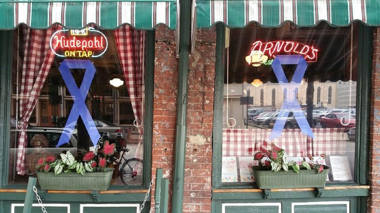 Arnold's Bar and Grill -- located in Downtown Cincinnati at 210 E 8th Street (45202). / Image courtesy of Yelp user Madison I.