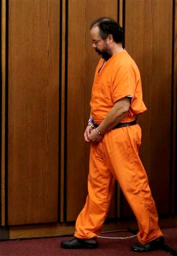 Ariel Castro leaves the courtroom after the sentencing phase Aug. 1 in Cleveland. Castro, convicted of holding 3 women captive in a house he turned into a prison and raping them repeatedly for a decade, was sentenced to life without plus 1,000 years.