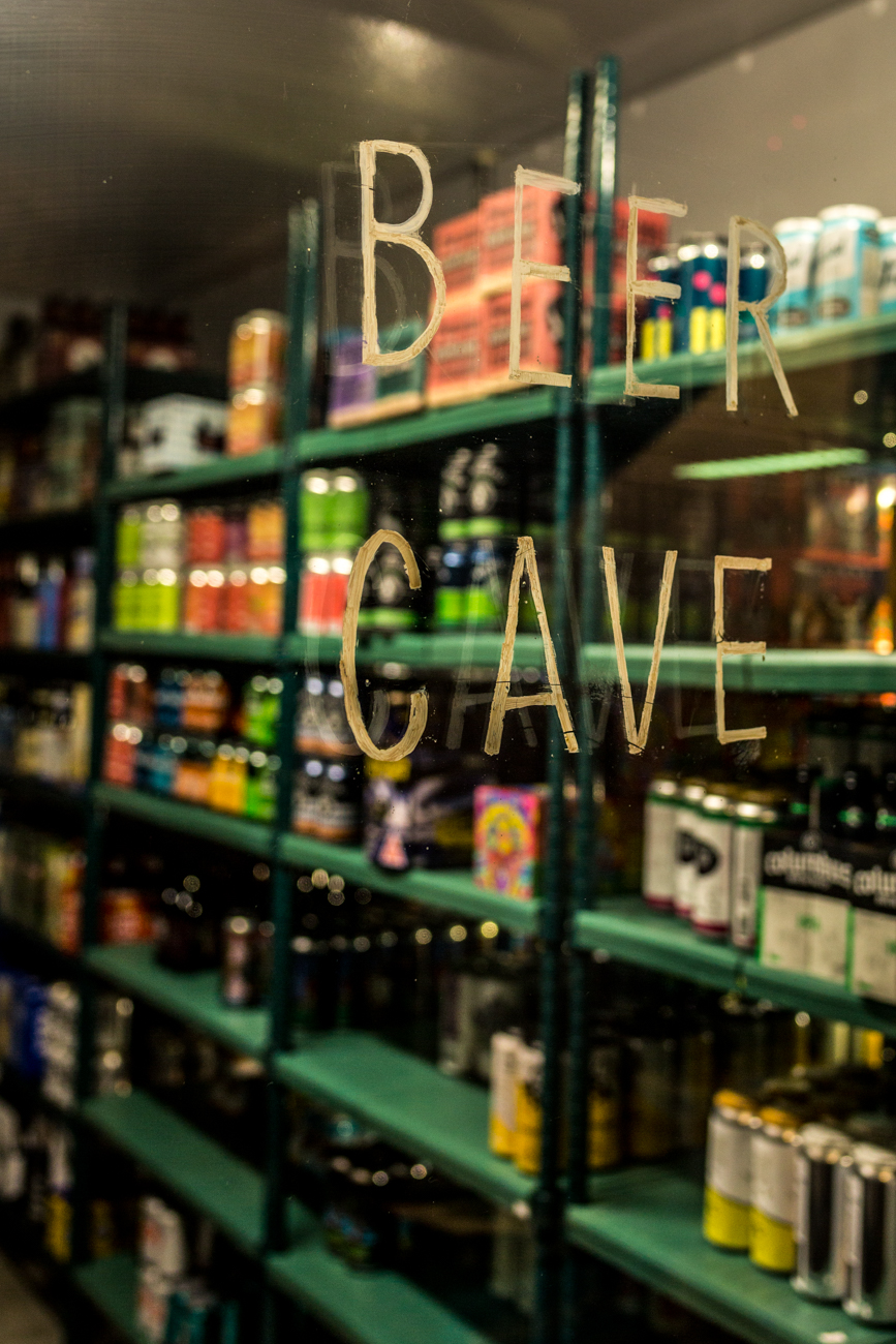 The beer cave /{ }Image: Catherine Viox{ }// Published: 9.16.19