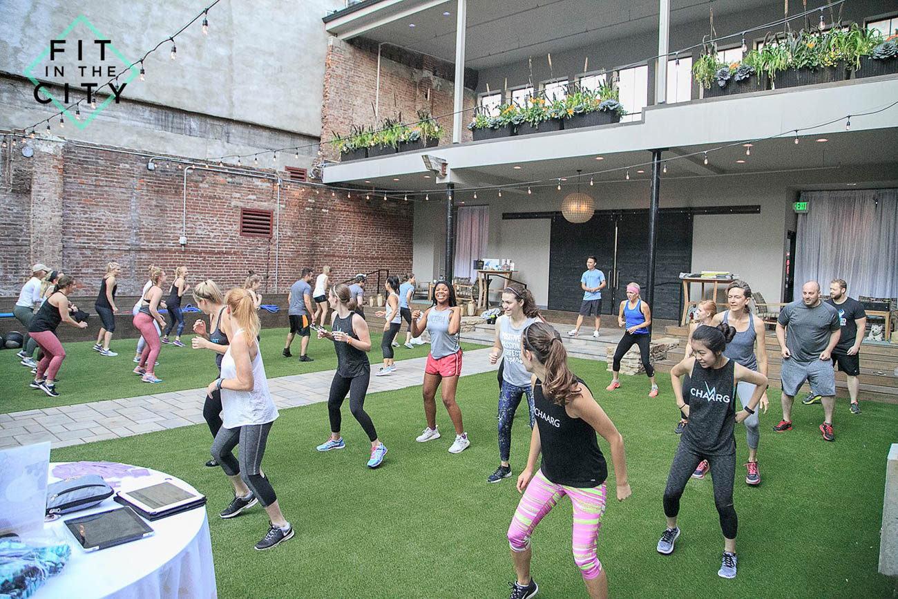 The workout series hosts health and fitness events at spaces all over the Tri-state including Findlay Market, Hotel Covington, and Devou Park. / Image: Abdullah Al-Bahrani // Published: 1.29.19