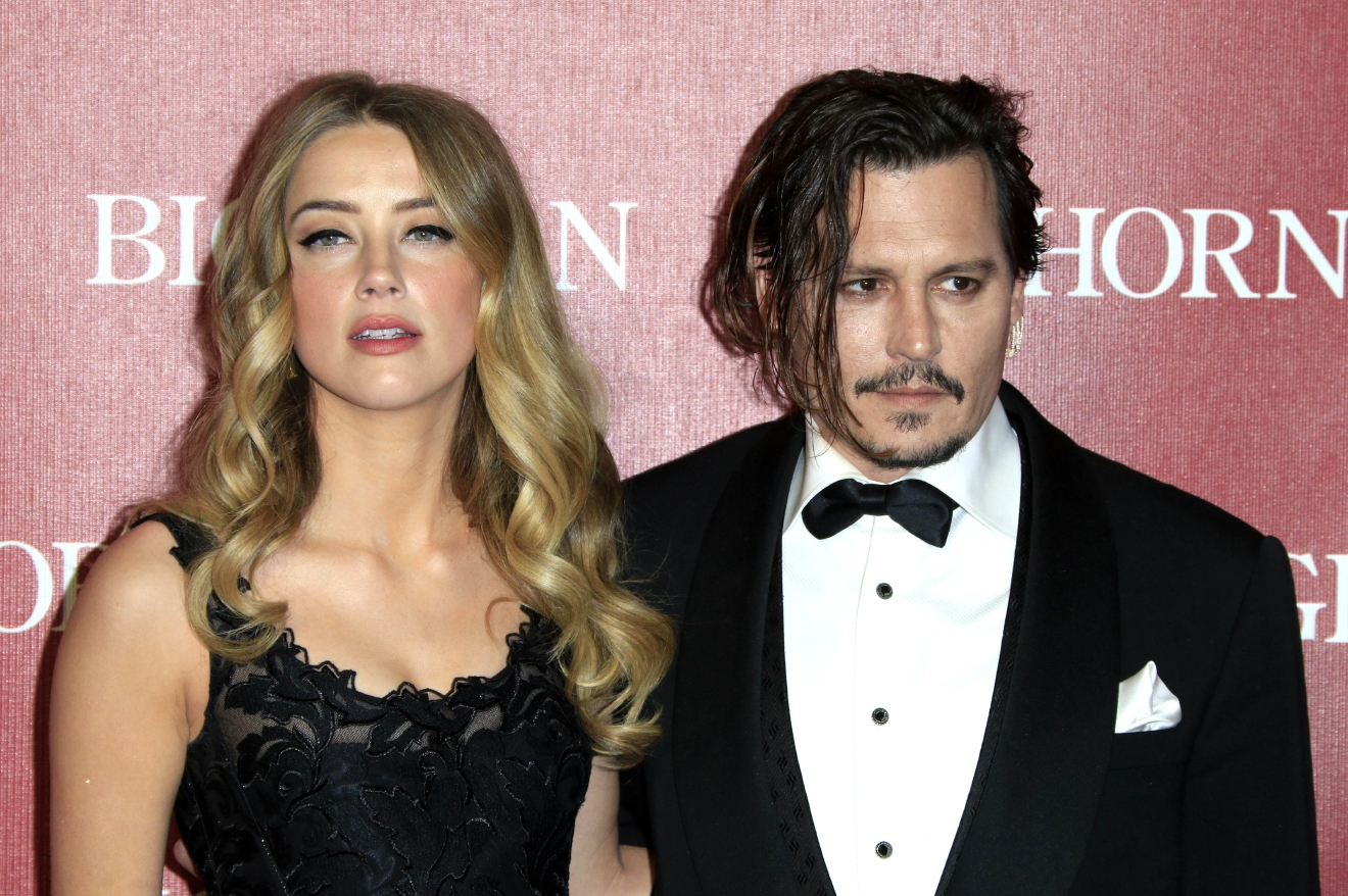 Amber Heard and Johnny Depp attend the 27th Annual Palm Springs International Film Festival Awards Gala at Palm Springs Convention Center on January 2, 2016 in Palm Springs, California.  Featuring: Amber Heard, Johnny Depp Where: Palm Springs, California, United States When: 02 Jan 2016 Credit: Dave Bedrosian/Future Image/WENN.com  **Not available for publication in Germany, Poland, Russia, Hungary, Slovenia, Czech Republic, Serbia, Croatia, Slovakia**