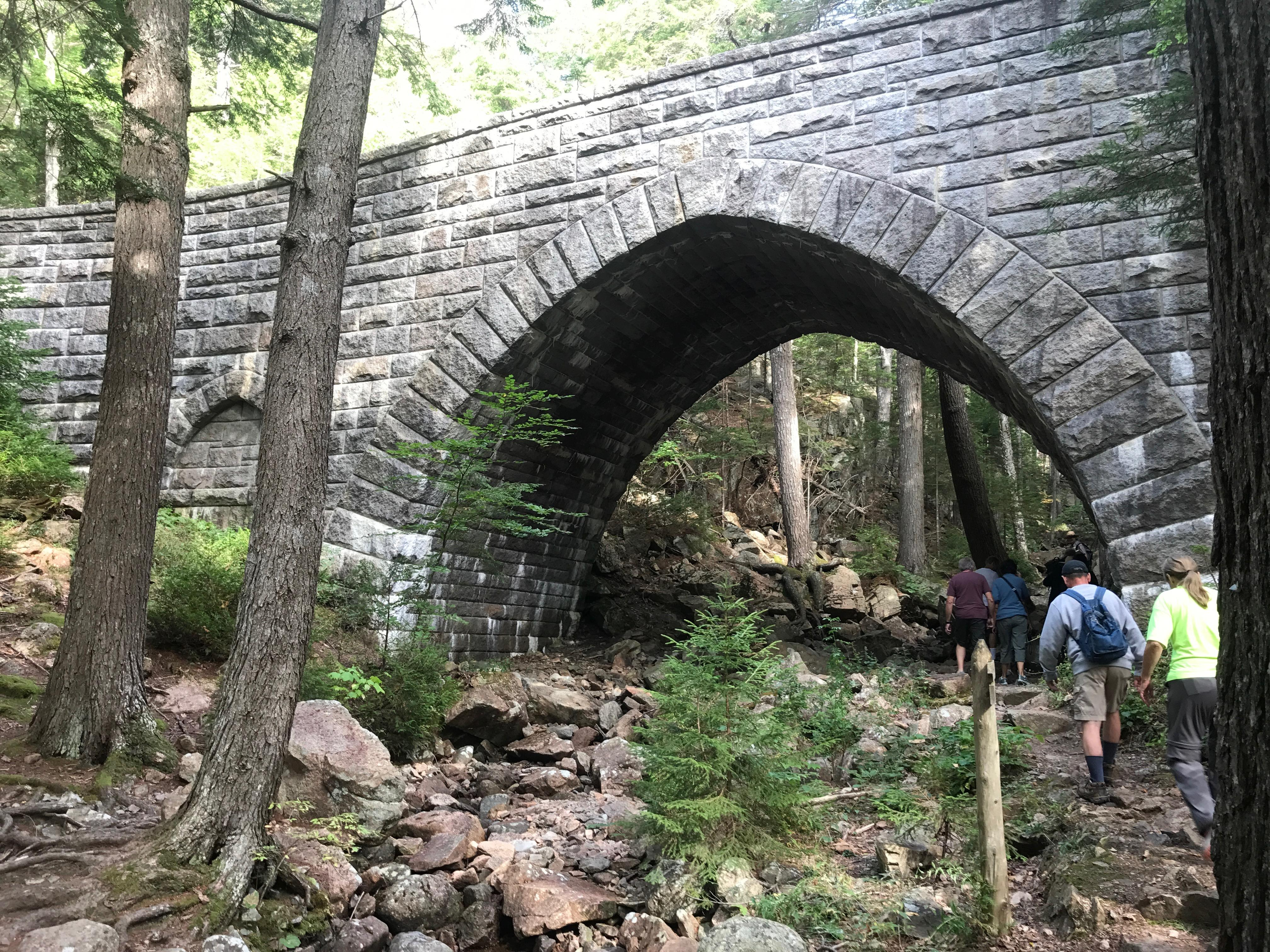 One of 17 bridges built by John D. Rockefeller Jr. in what is now Acadia National Park. [Photo by Rick Holmes]