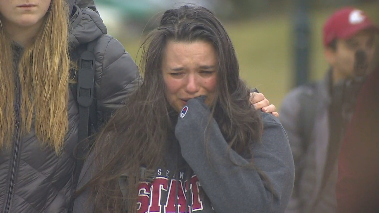 Dozens of people have left flowers, balloons, and messages of support in honor of Tyler Hilinski around the iconic Cougar statue in front of Martin Stadium on the Washington State University campus in Pullman, Wash.  Students also held a vigil on Wednesday, Jan. 17, 2018. (Photo: KOMO News)