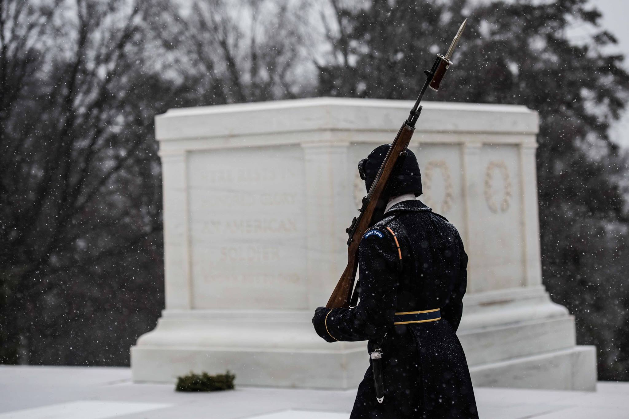Old Guard Maintains Vigil At Tomb Of The Unknown Soldier