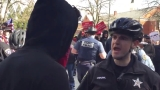 Pro, anti-Trump protesters clash at Oregon State Capitol; 1 arrested