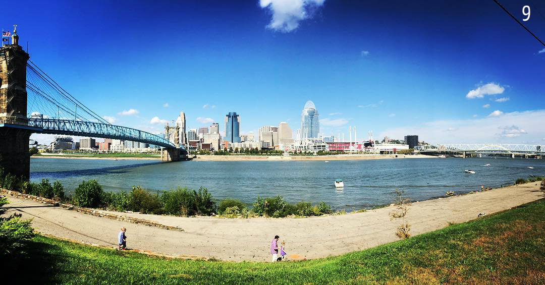 #9 - So my favorite view of Cincinnati is actually from the banks of the Ohio River in Covington. Case in point. / Image: Leah Zipperstein, Cincinnati Refined