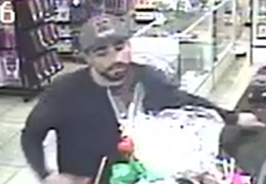 Suspect sought after robbing a retail store near Tropicana, Valley View. (Tiffany Knox, LVMPD Robbery Section){ }
