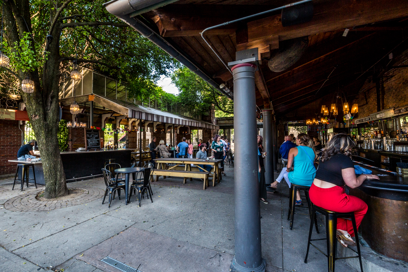 PLACE: Rosedale / ADDRESS: 208 East 12th Street (45202) / Rosedale features one of the largest pup-friendly patios in the area. And with food pop-ups and bocce ball, what else do you need? Find is along 12th Street in Over-the-Rhine. / Image: Catherine Viox // Published: 7.7.19