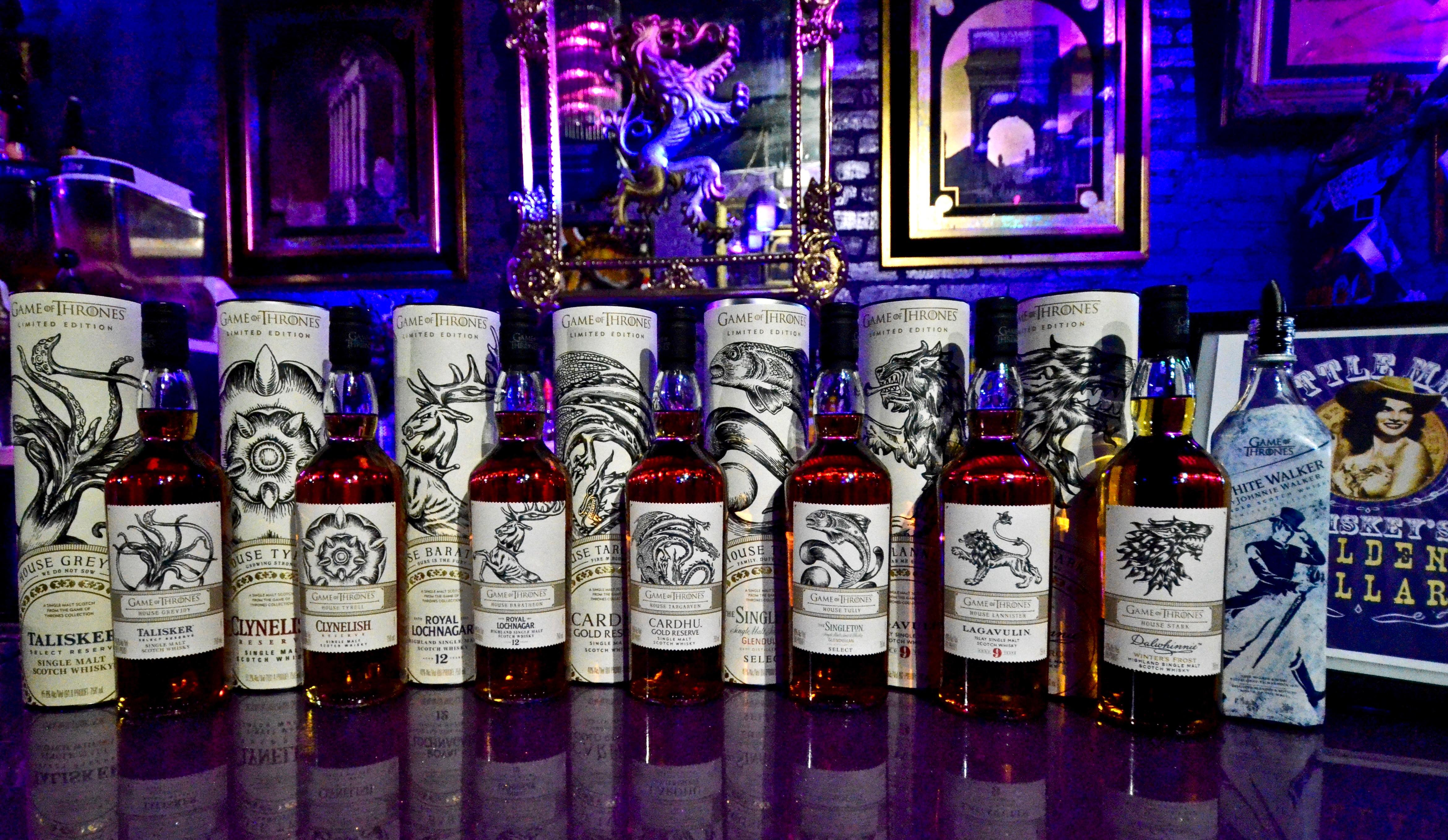 <p>Game of Thrones Scotch Flight at Little Miss Whiskey's Golden Dollar // Price: $15 for three samples // Buy online // https://lmw.ticketspice.com/miss-whiskeys-game-of-thrones-scotch-flight-3-samples-15 // (Image: Mark Thorp)</p>